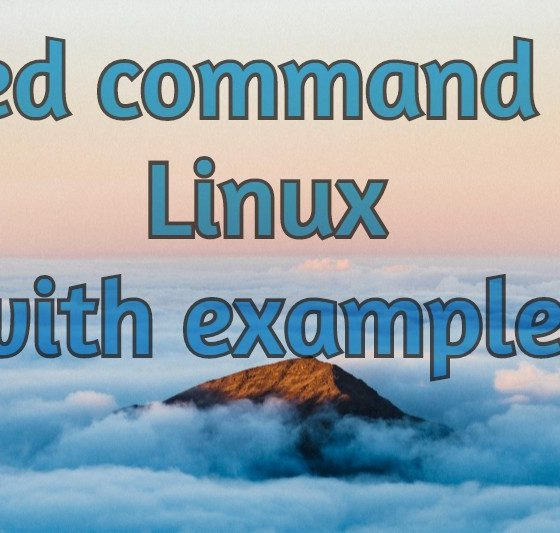 sed command in linux
