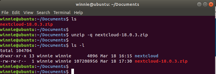 suppress output of unzip in Linux