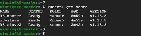 Kubernetes cluster on Ubuntu