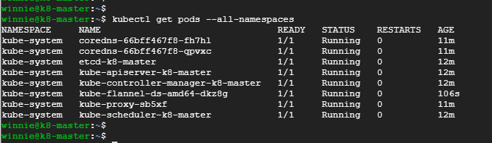 confirm-that-pod-namespaces-are running-on-kubernetes-cluster-on-ubuntu