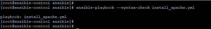 Check playbook syntax