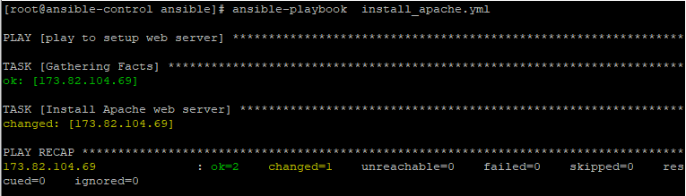 implement ansible playbooks