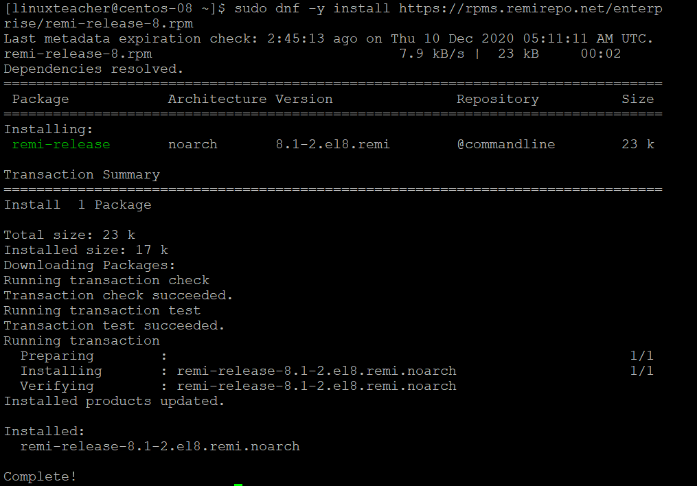 install PHP 8.0 on CentOS 8