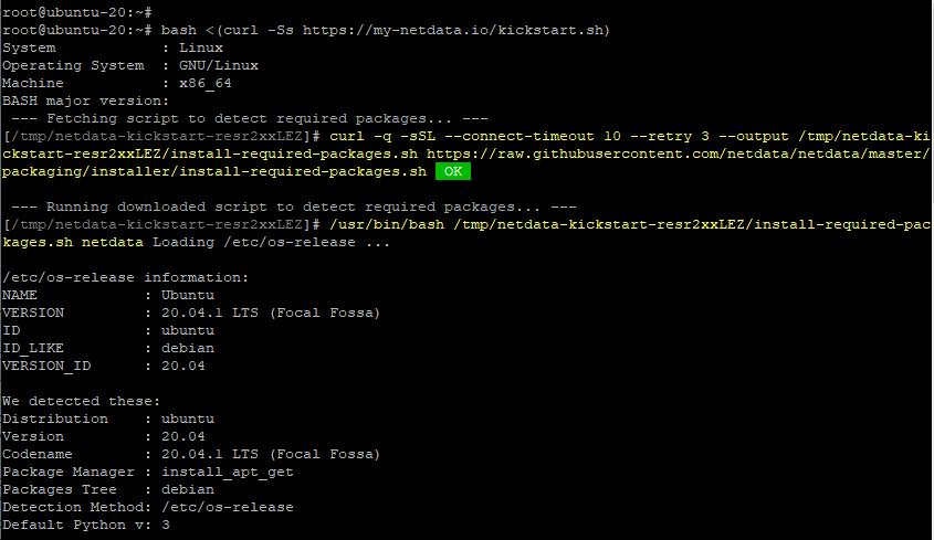 Install Netdata on Ubuntu 20.04
