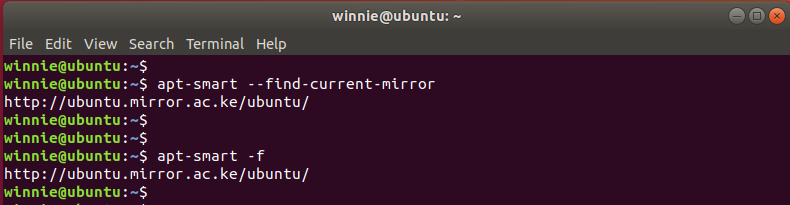 use apt smart to find current mirror
