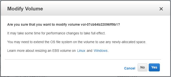 Resize EBS volume on EC2 instance