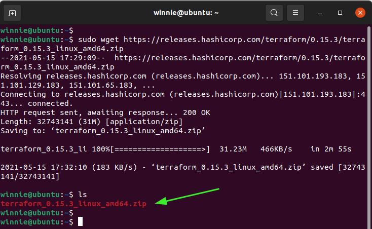 Download Terraform Ubuntu 20.04